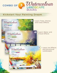 Landscape Watercolour Painting Books | Set of 3 with Step By Step Guide