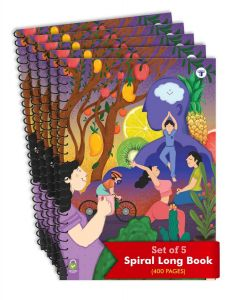 Target Publications Spiral Notebooks | 400 Pages Ruled Paper | A4 Size Paper | Pack of 5