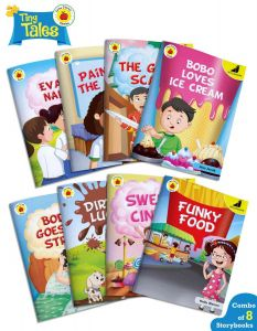 Bedtime Story Books for Kids in English | Tiny Tales - Grow Strong | Age 5 - 8 Years | Easy to Read Stories with Pictures | Set of 8 Books