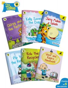 Bedtime Stories for Kids 4 to 8 Years in English | Tiny Tales - Blue Planet | Pack of 6