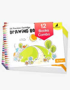Drawing for Kids | 2A Size Drawing Books | 36 White Blank Drawing Pages | Drawing Sheets for Drawing, Colouring and Painting | Set of 12 Art Sketchbooks