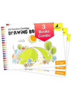 Drawing for Kids | 2A Size Drawing Books | 36 White Blank Drawing Pages | Drawing Sheets for Drawing, Colouring and Painting | Set of 3 Art Sketchbooks