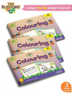 Drawing and Colouring for Kids | Tiny Blossoms | Age 3 - 7 Years | Learn How to Draw, Join the dots, Colouring Patterns, Learn to Draw Shapes and Daily Objects, Art and Craft Activity | Set of 3 Books