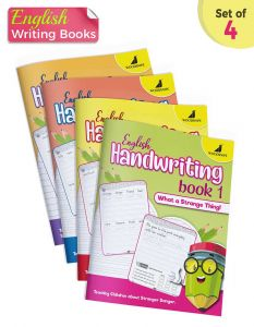 English Handwriting Practice Books | Normal Print Font | Pack of 4
