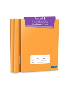 Small Maths Square Ruled Notebooks | Square 9 mm | 176 Pages | Hard Brown Cover | 15.5 cm x 19 cm Approx | Maths Notebook for Exercise and Practice | Pack of 5 Books | GSM 60