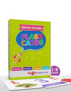 Flashcards for Kids 1 to 6 Years | Alphabets, Numbers, Shapes and Colours | 64 Non Tearable Cards