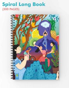 Target Publications Spiral Notebooks | 300 Pages Ruled Paper | A4 Size Paper