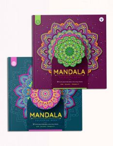 Mandala Art Colouring Book - Set of 2 | A Perfect Stress Buster for Adults and Children