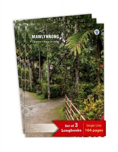 TARGET PUBLICATIONS Long Notebooks | Mawlynnong | 164 Single Line Ruled Pages | Writing Book with Page Numbers | Useful for School, College & Office | 20 cm x 28 cm Approx A4 | Set of 3 | GSM 58
