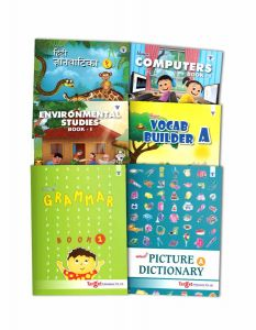 Learning Books for Basics of English Vocabulary, Grammar, Computer, EVS and Hindi Language for Kids