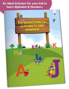Blossom English Alphabet and Number Learning Book with Colourful Pictures for Babies