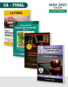 CA Exam Company  and Economic Law Books Paper 4 | Set of 4 by CA Arpita Tulsyan
