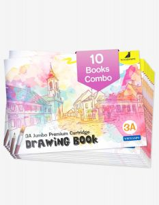 Drawing for Kids | 3A Size Drawing Books | 36 White Blank Drawing Pages | Sketch Books for Drawing, Colouring and Painting | Set of 10 Art Sketchbooks