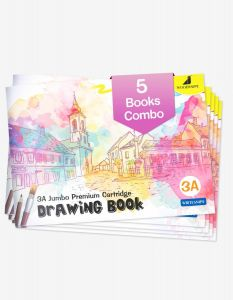 Drawing for Kids | 3A Size Drawing Books | 36 White Blank Drawing Pages | Sketch Books for Drawing, Colouring and Painting | Set of 5 Art Sketchbooks