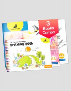 Drawing for Kids | 2A, 3A & 4A Size Drawing Books | 36 White Blank Drawing Pages | Drawing Sheets for Drawing, Colouring and Painting | Set of 3 Art Sketchbooks