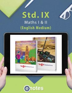 Std 9 Maths 1 and 2 Ebooks | Eng Med | Maharashtra Board