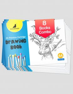 Drawing for Kids | 4A Size Drawing Books | 36 White Blank Drawing Pages | Sketch Books for Drawing, Colouring and Painting | Set of 8 Art Sketchbooks