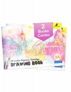 Drawing for Kids | 3A Size Drawing Books | 36 White Blank Drawing Pages | Sketch Books for Drawing, Colouring and Painting | Set of 2 Art Sketchbooks