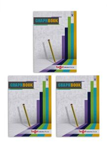 Graph Books | A4 Size 56 Pages | Soft Cover | Numbered Pages and Ruled Margins | Graph Paper with 1 cm Squares | Maths Graph Sheets for School, College and Office Use | Pack of 3