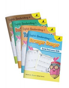 English Cursive Handwriting Practice Books | Includes Fun Activities | Pack of 4