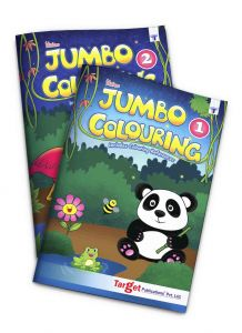 Blossom Jumbo colouring books level 1 and 2 combo of 2