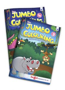 Blossom Jumbo colouring books level 3 and 4 combo of 2