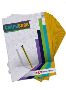 Graph Books | A4 Size 56 Pages | Soft Cover | Numbered Pages and Ruled Margins | Graph Paper with 1 cm Squares | Maths Graph Sheets for School, College and Office Use | Pack of 18