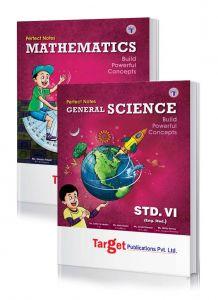 Std 6 Perfect Notes Maths and Science Books. English Medium. Maharashtra State Board.