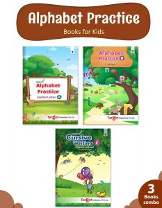 Nurture English Alphabet Writing Practice Books For Kids | 3 To 8 Year Old | ABCD Capital, Small And Cursive Letter Tracing Practise For Nursery, Preschool And Primary Children | Set Of 3 Books