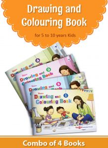 Blossom Drawing and Colouring books level 1 to 4 combo of 4