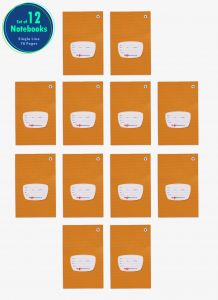 Single Ruled Small Notebooks for School | 76 Pgs | 12 Books