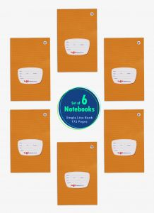 Single Ruled Small Notebooks for School | 172 Pgs | 6 Books