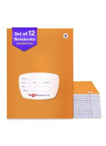 Target double line small notebook 76 pages combo of 12