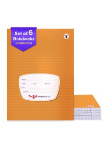 Target small Double line notebook 172 pages combo of 6