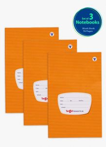 Target Small Unruled Notebook | 76 Pages - Pack of 3