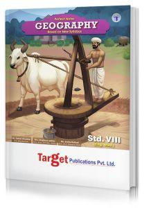 Std 8 Perfect Notes Geography Book. English Medium Maharashtra State Board