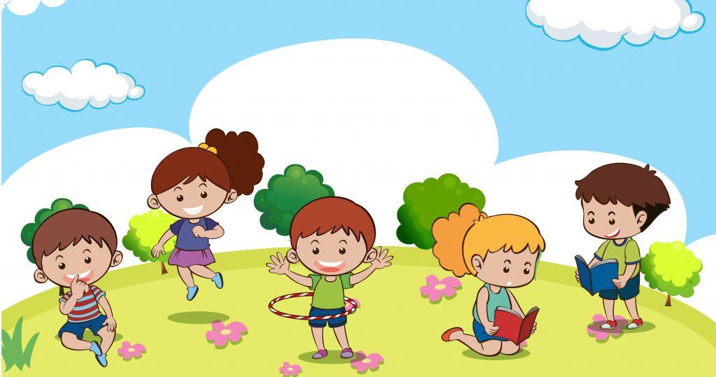 Kids building their maths and language skills in preschool
